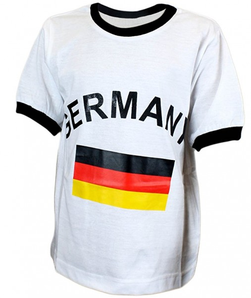 """Kinder T-Shirt """"Deutschland"""" Fanshirt WM Fußball Baumwolle"""