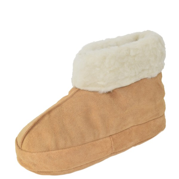 "Indoor Slipper ""Ice Flower"" Real Leather Wool Lining Cozy Soft"