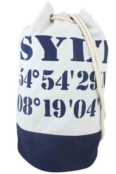 "XL Sea Bag ""Sylt"" Maritime Navy Backpack"
