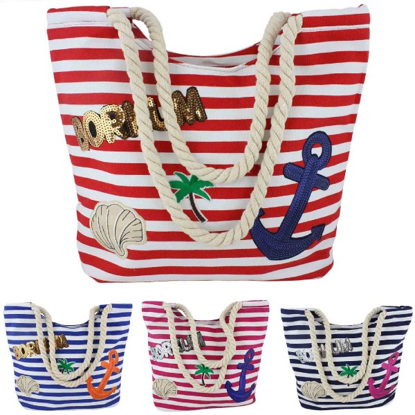 "Sale: 10 Patch Beach Bag ""Borkum"""