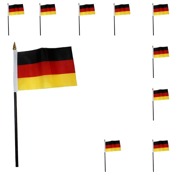 10 Pieces Mini Flags Football Worldcup 10 x 15cm SET Party