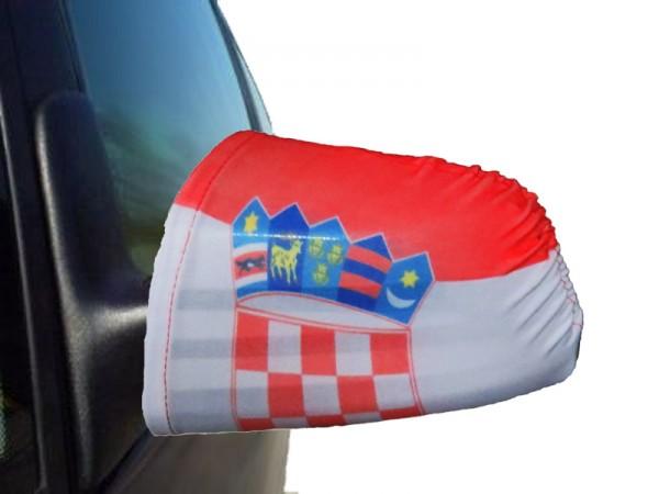 "Auto Außenspiegel Fahne Set ""Kroatien"" Croatia Bikini Flagge EM WM"
