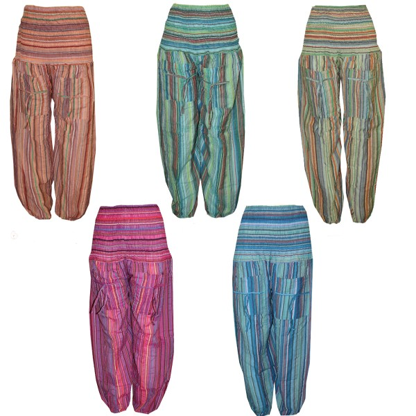 Assortment: 30 pieces Bloomers Pockets Baggy Pants Stripes Stretch