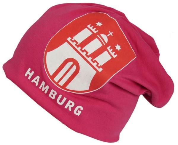 "Beanie Mütze ""Hamburg"" Unisex City Wappen"