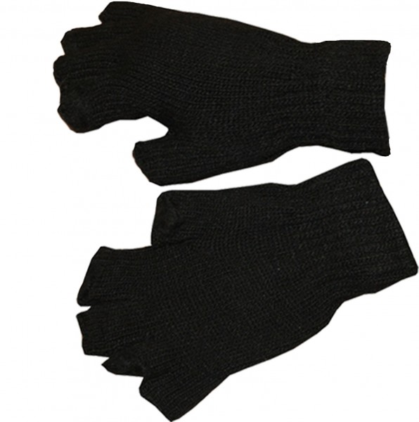 Knitted Gloves Halffinger Unicolor Winter