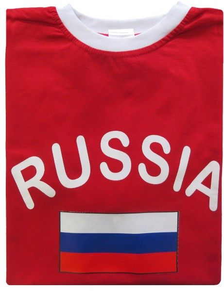 "Fan-Shirt ""Russia"" Unisex Football Worldcup T-Shirt Men"