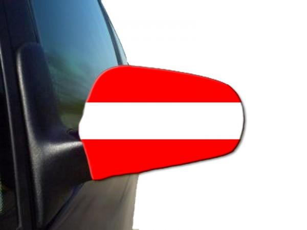 """Auto Außenspiegel Fahne Set """"Österreich"""" Austria Bikini Flagge EM WM"""