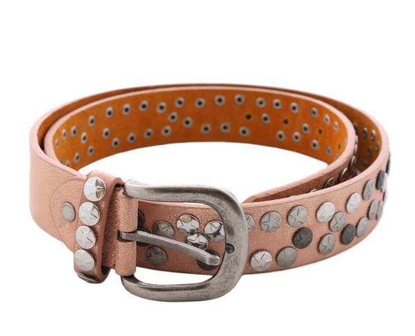 "Womens Belt ""Star Rivets"" Glimmering"