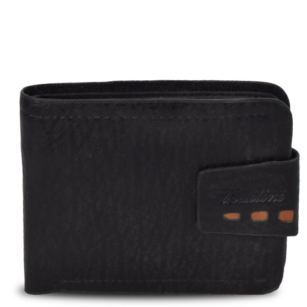 "Wallet ""Special"" Gents Purse Brown Black Synthetic Leather"