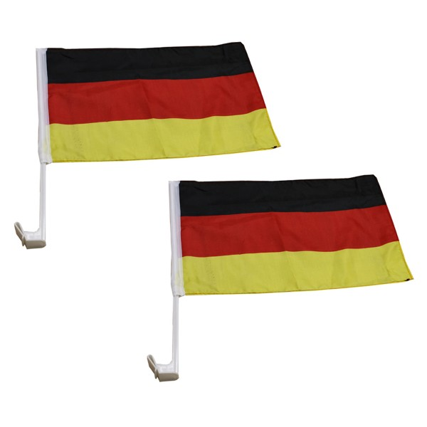 """2 Pieces """"Car Flag"""" Worldcup Football Countries Drive Fan"""
