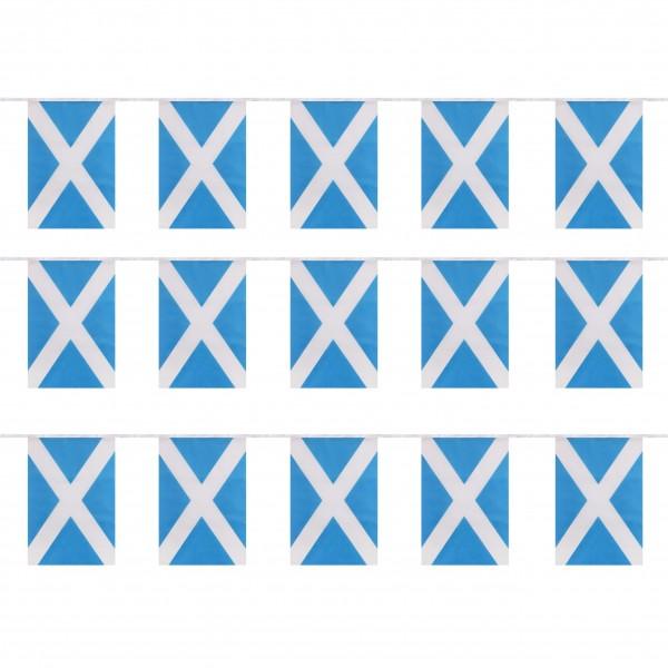 """Fahnenkette """"Schottland"""" Fußball EM Girlande 16 Fähnchen 4,5m Deko"""